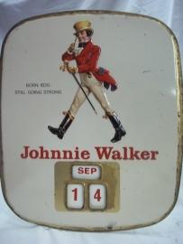 JOHNNIE WALKER kalender reclame