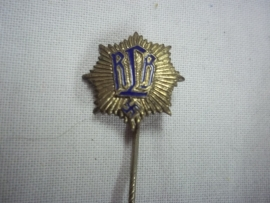 German pin civil defence. nicely marked. Duits speldje R.L.B. Reichs Luftschutz Bund, mooi gemarkeerd.
