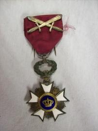 Belgium medal order of the crown. Belgische Kroonorde, emaille 100%.