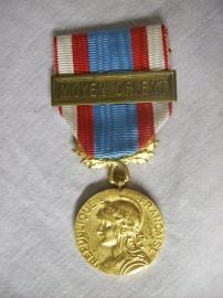 French medal MOYEN ORIENT. Franse medaille voor de ordehandhaving en beveiliging.