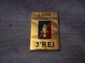 Legion Etrangere borsthanger 3e Regiment Etrangere de Infanterie, met G-nummer