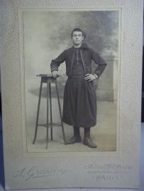 Photograph of a Zouave. Foto van een Zouaaf in het traditionele uniform.