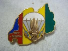 French Foreign Badge Sierra-Nevada Marines.Franse borsthanger GPT SIERRA Vreemdelingen legioen 1994