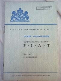 Nederlands instructieboekje M.v.O. PIAT