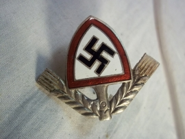 German capbadge RAD officer. Duits petembleem voor het RAD hoedje, officier.