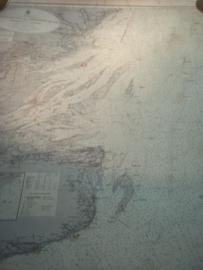 German Navy  map. Reichsmarine 1910 measures 110 - 70 cm. Duitse zeekaart van de Duitse reichsmarine