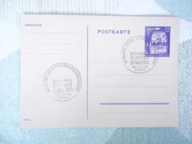 Duitse briefkaart met zegel en stempel Behring Institut lemberg  eroffnung der fleckfieberforschungsstatte
