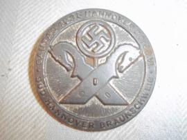 German tinnie, NSDAP, Duitse tinnie Sud Hannover Braunschweig Gautag Hannover 1935.