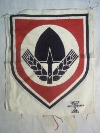 Sport badge T-shirt Labourparty. Sportembleem voor het sportshirt, bevo, RAD