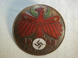 German shooting price, KK-Gewehr. Duitse schietprijs Oostenrijkse adelaar 1942 met emaille 100%