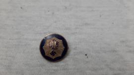 German membership badge civil defence. Speldje lidmaatschap RLB Reichs Luftschutz 1e model zilver.