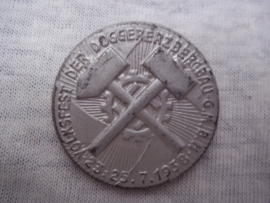 German tinnie, rally badge Duitse tinnie Volksfest der Doggererzbergbau G.M.B.H. 1938
