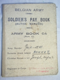 Belgium paybook, Belgisch paybook 1945 Genie soldaat