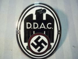 German car plaque, Duitse auto plaquette van de Duitse ANWB de DDAC  Deutsche Automobile Club.  Ges.Gesch. gestempeld emaille 100 %.