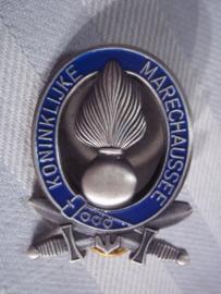 Dutch badge of the Military police, Borst brevet KMAR Koninklijke Marechaussee zilverkleurige uitvoering voor soldaten en onderofficieren.