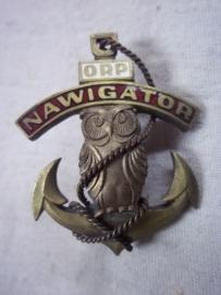 Polnish Naval badge NAWIGATOR. Pools borstembleem Marine