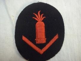 German kriegsmarine badge artillery gunner. Duits mouwembleem artillerist