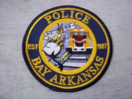 Badge, embleem Police Bay Arkansas. 1987