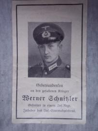 Death card, Duits doodsprentje.