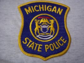 Badge embleem State Police Michigan.