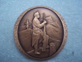 Zwitserse penning brons 1914-1918 gewapende neutraliteit , 4 cm.