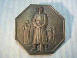 Zwitserse plaquette rode Kruis 1940 van brons, met zegel het grote model, zeer apart.