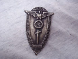 German tinnie, rally badge, Duitse tinnie NSDAP Albert leo Schlageter 1923-1933 - Ortsgruppe Friedrichsfelde.