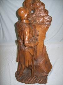 Statue of a French soldier terracotta. Beeld Franse soldaat gesigneerd,.