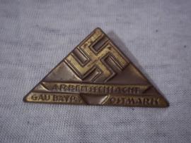 German tinnie, rally badge, Duitse tinnie ArbeitsschlachtGau bayern Ostmark.