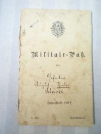 German militair ID book. Duits militair pas WO1