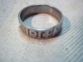 German Vaterland Dank ring 1914. Duitse ring van staal, kreeg je als je sieraden voor de oorlogsvoering inleverde.