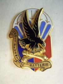 Frans borsthanger 2e regiment para artillerie