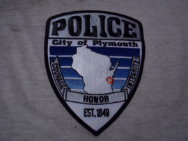 Badge, embleem City of Plymouth Police.