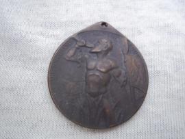 German medal. Duitse medaille RHEINLAND RÄUMUNG 1930 - Die Knechtschaft hat ein Ende. zeer bijzondere en aparte medaille.