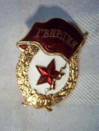Russian Guards badge, last model. Embleem Russische garde nieuw model