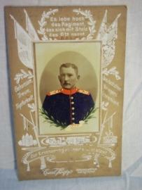 Ingekleurde reservisten foto, met regimentsnummer en een leuke omkadering.