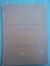 Boek KMA, met administratie brief modellen voor 1940, KMA modellenboek 1937