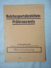 German document for the sport badge.Duitse oorkonde  Reichssportabzeichen. sport embleem