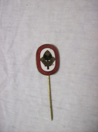 German enamelled  pin  Arbeidsdank. Draagspeld Arbeidsdienst geemailleerd.