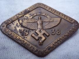 German tinnie, rally badge, Duitse tinnie, N.S.F.K. National Socialistisches Flieger Korps. 19e Rhön- segelflug wettbewerb- 1938.