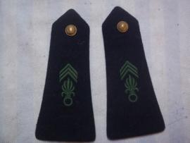 Legioen epauletten manschap jaren 50-60. blouse en uniform.