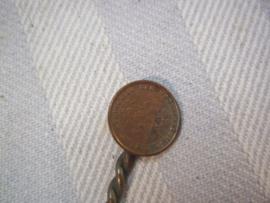 Patriotic spoon with coins, Lepel gemaakt tijdens de bezetting van munten, Koninkrijk der Nederlanden