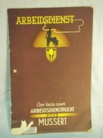 Boekje Nederlandse Arbeidsdienst, met afbeeldingen gebruikte staat