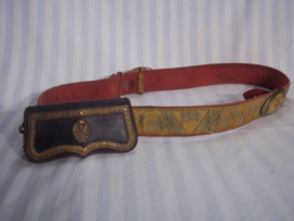 Spanish pouch, Spaanse giberne jaren 30-40 mooi compleet, officiers model