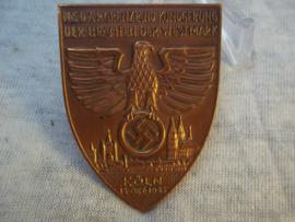 German tinnie rally badge, Duitse tinnie NSDAP Grenzland- Kundgebung der Beambten der Westmark Köln 18 okt. 1933.