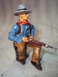 Elastolin cowboy durso lineol knielend met geweer