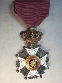 Belgium Leopold I medal. Belgische leopold I medaille civiele uitvoering vroeg model perfekte staat