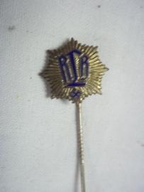 German pin civil defence. nicely marked. Duits speldje R.L.B. Reichs Luftschutz Bund, mooi gemarkeerd.