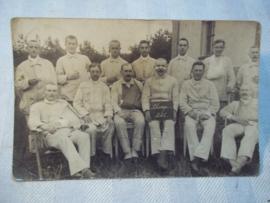 Duitse postkaart, soldaten in veldhospitaal 1916