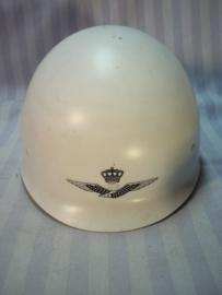 Dutch helmet airfield security. Nederlandse binnenhelm KLu. vliegveld bewaking Koninklijke Luchtmacht.